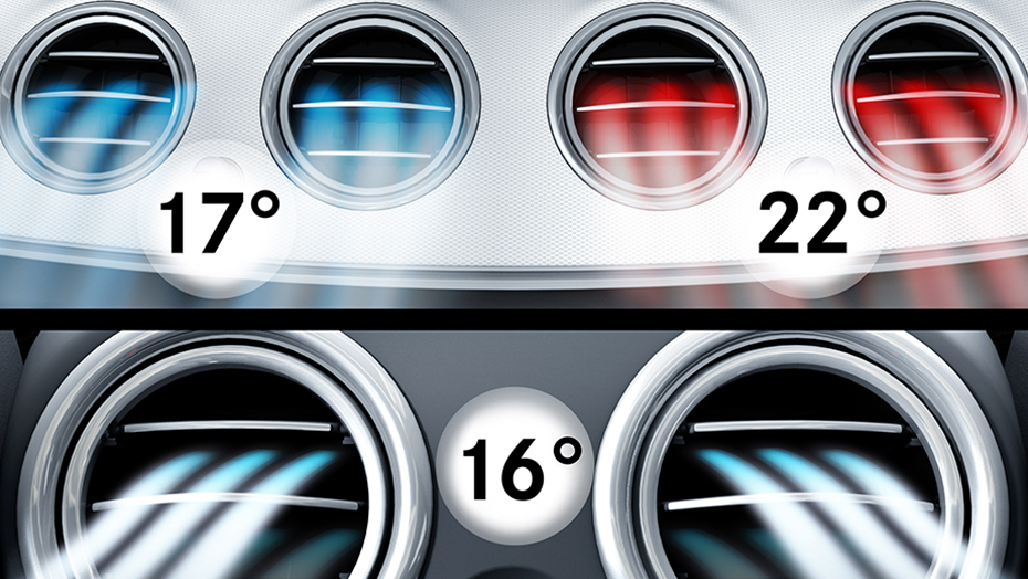 THERMOTRONIC 3-zone automatic climate control