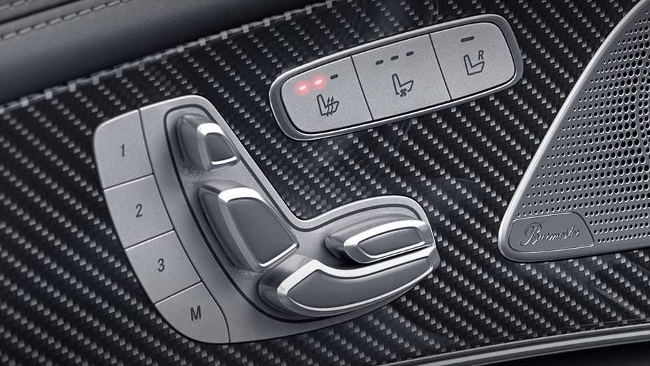 Heated power AMG sport front seats
