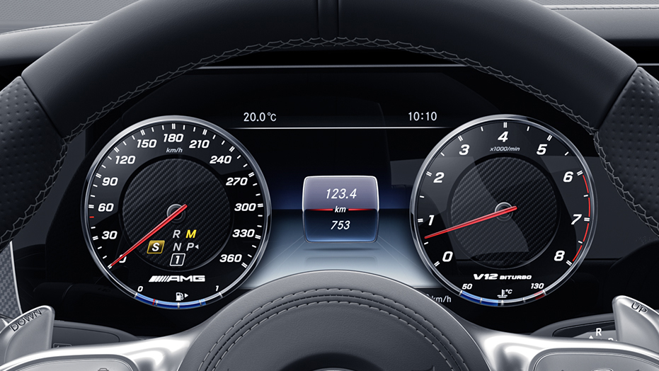 12.3-inch digital instrument cluster AMG