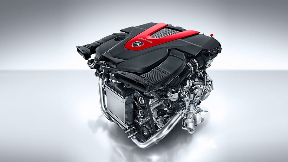AMG-enhanced 3.0L V6 biturbo engine