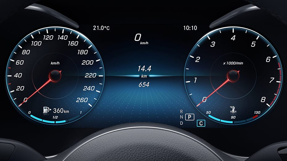 12.3-inch instrument cluster display