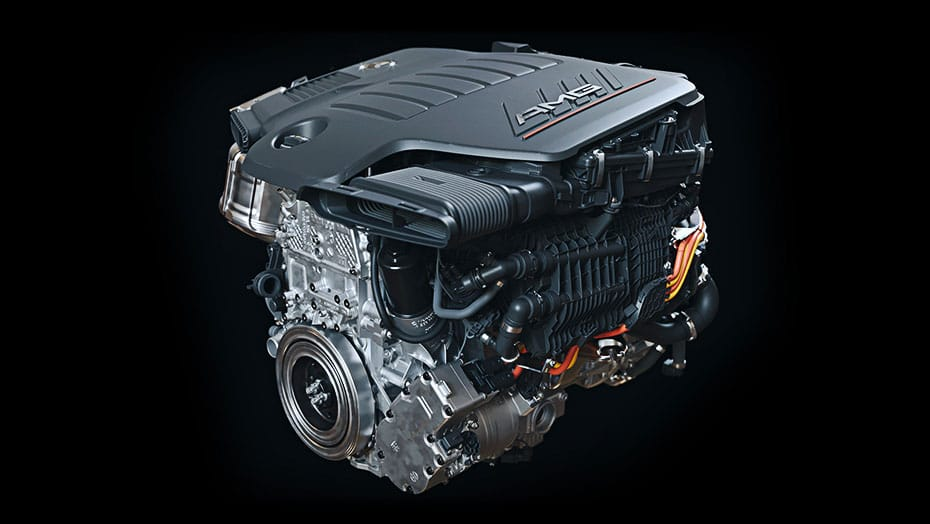 3.0L inline-6 turbo engine with EQ Boost
