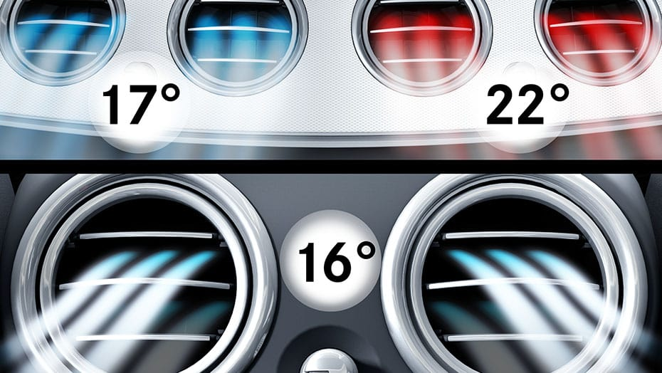THERMOTRONIC 3-zone climate control