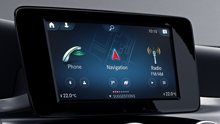 7-inch touchscreen centre media display