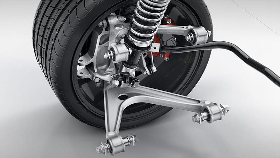 Forged aluminum double wishbone suspension