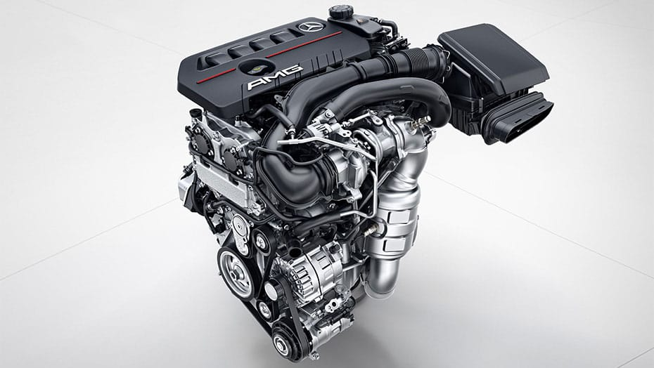 AMG-enhanced 2.0L inline-4 turbo engine