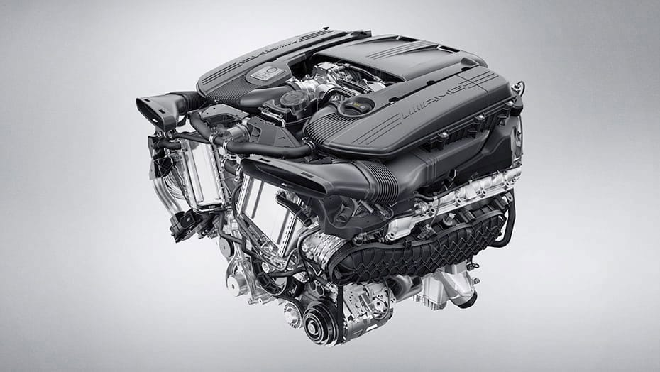 Handcrafted AMG 4.0L V8 biturbo engine-1