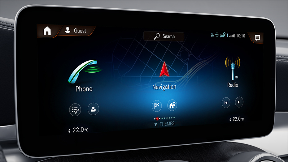 10.25-inch touchscreen centre media display