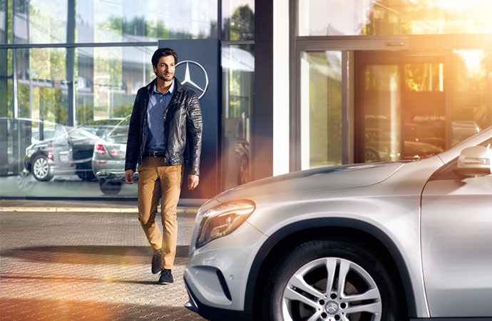 customer at Mercedes-Benz Retailer