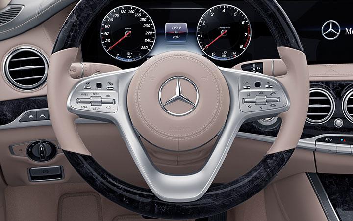 2018 s class luxury sedan mercedes benz for Mercedes benz steering wheel control buttons